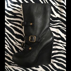 Betsey Johnson Ryder Black Leather Boots